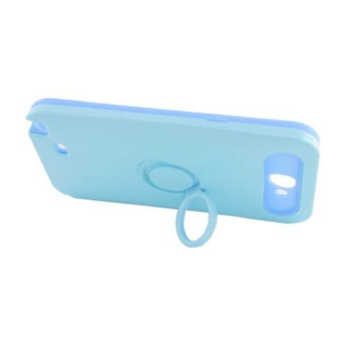 Insten Night Glow Hard Jelly Silicone Case w/Ring stand For Samsung Galaxy Note II, Blue