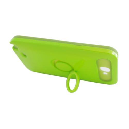 Insten Night Glow Hard Jelly Silicone Case w/Ring stand For Samsung Galaxy Note II, Neon Green