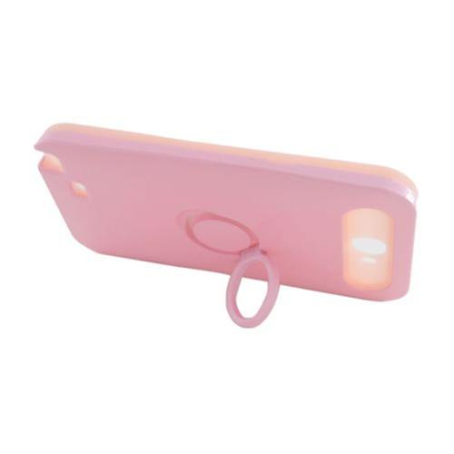 Insten Night Glow Hard Jelly Silicone Cover Case w/Ring stand For Samsung Galaxy Note II, Pink