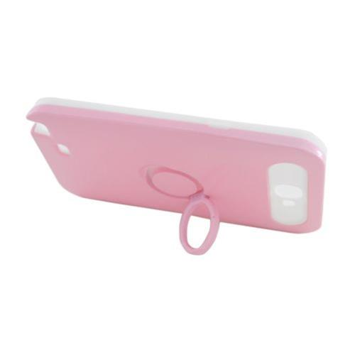 Insten Night Glow Hard Jelly Silicone Case w/Ring stand For Samsung Galaxy Note II, Pink/White