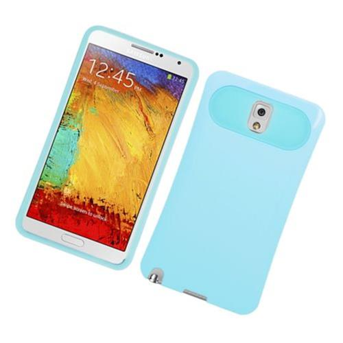 Insten Night Glow Hard Jelly Silicone Case For Samsung Galaxy Note 3, Blue