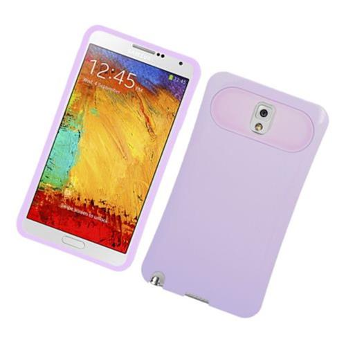 Insten Night Glow Hard Jelly Silicone Cover Case For Samsung Galaxy Note 3, Purple