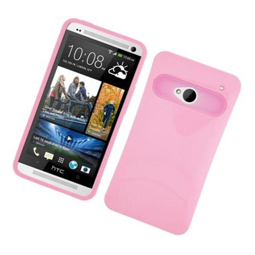 Insten Night Glow Hard Jelly Silicone Case For HTC One M7, Pink