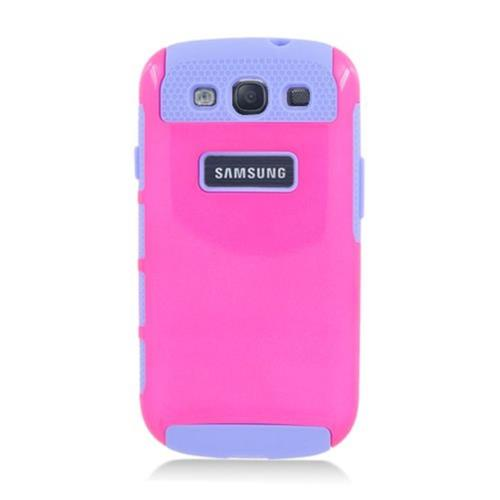 Insten Nest Hard Hybrid TPU Case For Samsung Galaxy S3, Hot Pink/Purple