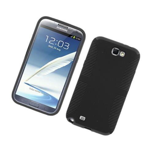 Insten Hard Dual Layer TPU Case For Samsung Galaxy Note II, Black