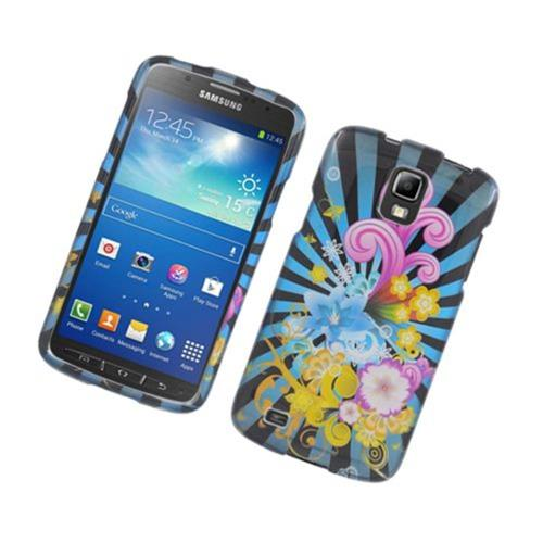 Insten Fireworks Hard Cover Case For Samsung Galaxy S4 Active, Blue/Colorful