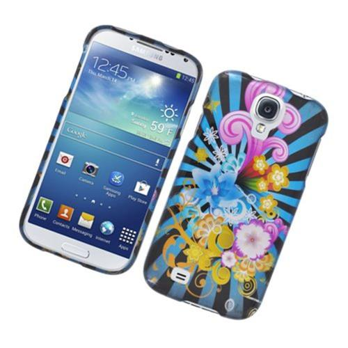 Insten Fireworks Hard Case For Samsung Galaxy S4, Blue/Colorful