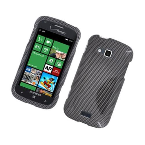 Insten Carbon Fiber Hard Cover Case For Samsung ATIV Odyssey, Dark Gray