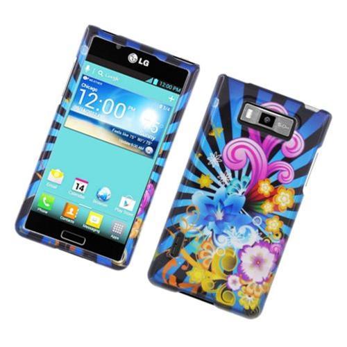 Insten Fireworks Hard Cover Case For LG Splendor US730 / Venice LG730, Blue/Colorful