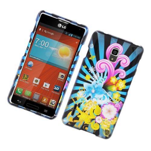 Insten Fireworks Hard Case For LG Optimus F7 LG870, Blue/Colorful