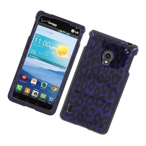 Insten Leopard Hard Cover Case For LG Lucid 2 VS870, Purple