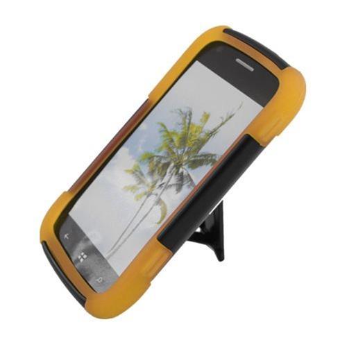 Insten Hard Hybrid Plastic Silicone Case w/stand For Samsung ATIV Odyssey, Black/Yellow