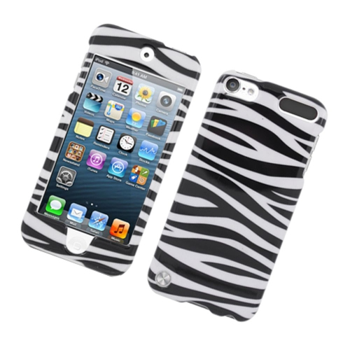 Insten Zebra Hard Cover Case For Apple iPod Touch 5th Gen, Black/White