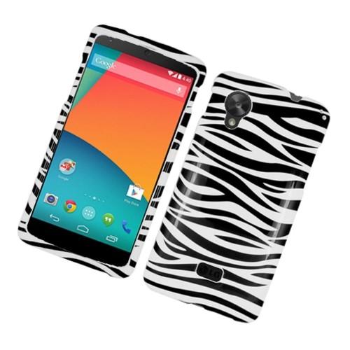 Insten Zebra Hard Cover Case For LG Google Nexus 5 D820, Black/White