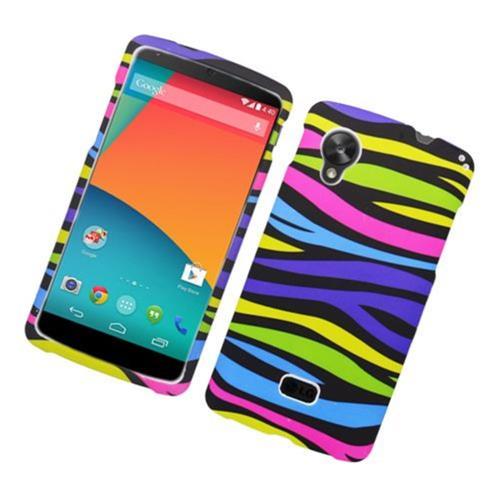 Insten Zebra Hard Rubber Cover Case For LG Google Nexus 5 D820, Colorful