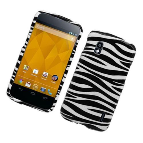 Insten Zebra Hard Case For LG Google Nexus 4 E960, Black/White