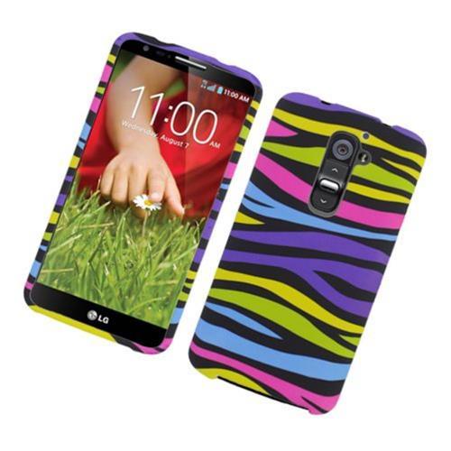 Insten Zebra Hard Cover Case For LG G2 D800 AT&T, Colorful