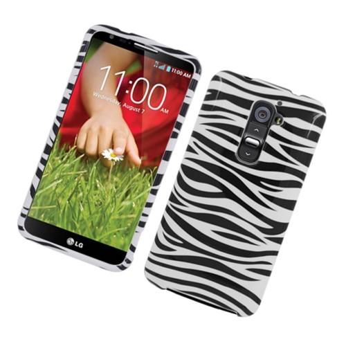 Insten Zebra Hard Cover Case For LG G2 D800 AT&T, Black/White