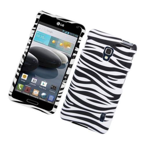 Insten Zebra Hard Case For LG Optimus F6 MS500, Black/White