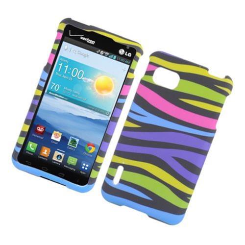 Insten Zebra Hard Rubber Case For LG Optimus F3 LS720, Colorful