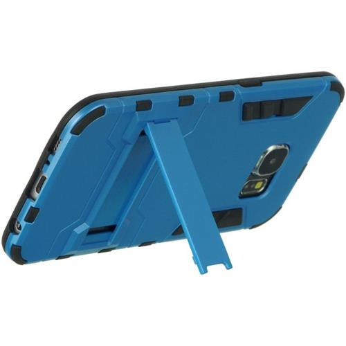 Insten Hard Dual Layer TPU Case w/stand For Samsung Galaxy S6, Blue/Black