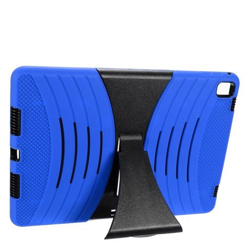 """Insten Wave Symbiosis Rubber Dual Layer Hard Case w/stand For Apple iPad Pro 9.7"""", Blue/Black"""