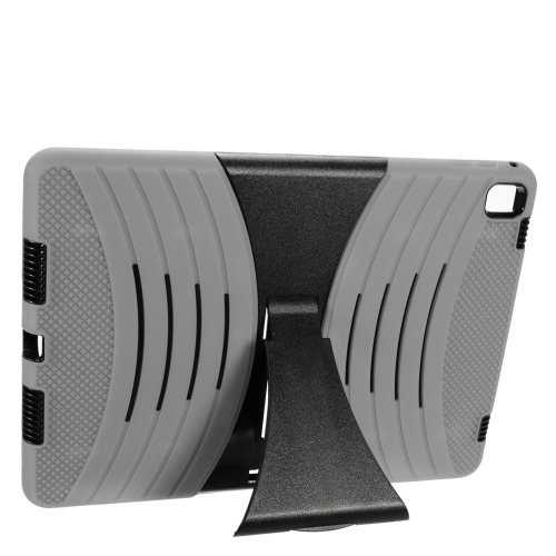 "Insten Wave Symbiosis Soft Hybrid Rubber Hard Case w/stand For Apple iPad Pro 9.7"", Gray/Black"