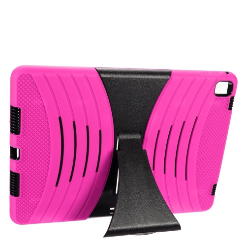 "Insten Wave Symbiosis Gel Hybrid Rubber Hard Case w/stand For Apple iPad Pro 9.7"", Hot Pink/Black"