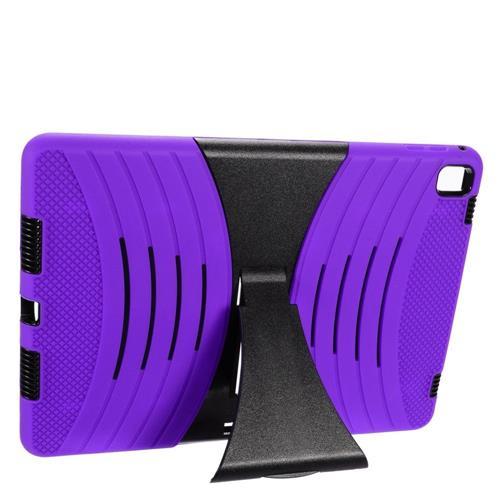 "Insten Wave Symbiosis Skin Hybrid Rubber Hard Case w/stand For Apple iPad Pro 9.7"", Purple/Black"