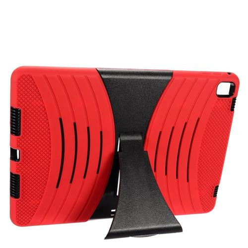 "Insten Wave Symbiosis Rubber Hybrid Hard Case w/stand For Apple iPad Pro 9.7"", Red/Black"
