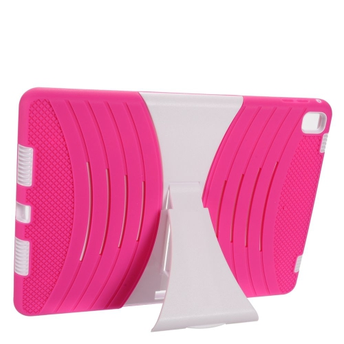 """Insten Wave Symbiosis SoftRubber Hard Case w/stand For Apple iPad Pro 9.7"""", Hot Pink/White"""