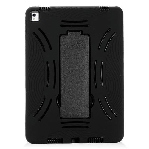 "Insten Symbiosis Gel Dual Layer Rubber Hard Cover Case w/stand For Apple iPad Pro 9.7"", Black"
