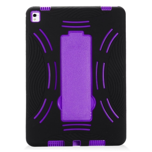 "Insten Symbiosis Rubber Dual Layer Hard Case w/stand For Apple iPad Pro 9.7"", Black/Purple"