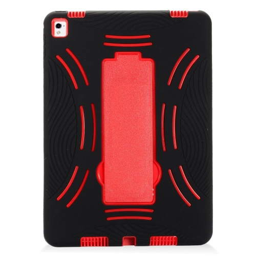 "Insten Symbiosis Rubber Dual Layer Hard Case w/stand For Apple iPad Pro 9.7"", Black/Red"