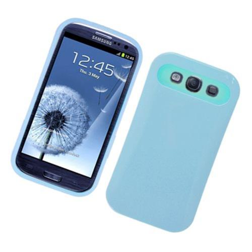 Insten Night Glow Hard Jelly Silicone Cover Case For Samsung Galaxy S3, Blue