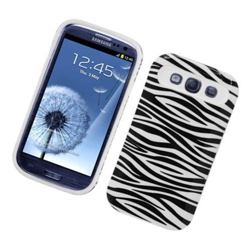 Insten Night Glow Zebra Hard Jelly Silicone Case For Samsung Galaxy S3, Black/White