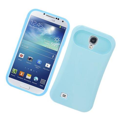 Insten Night Glow Hard Jelly Silicone Case For Samsung Galaxy S4, Blue