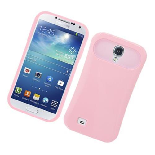 Insten Night Glow Hard Jelly Silicone Case For Samsung Galaxy S4, Pink