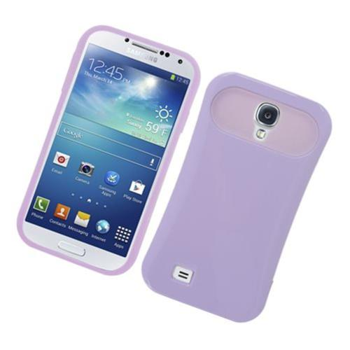 Insten Night Glow Hard Jelly Silicone Cover Case For Samsung Galaxy S4, Purple