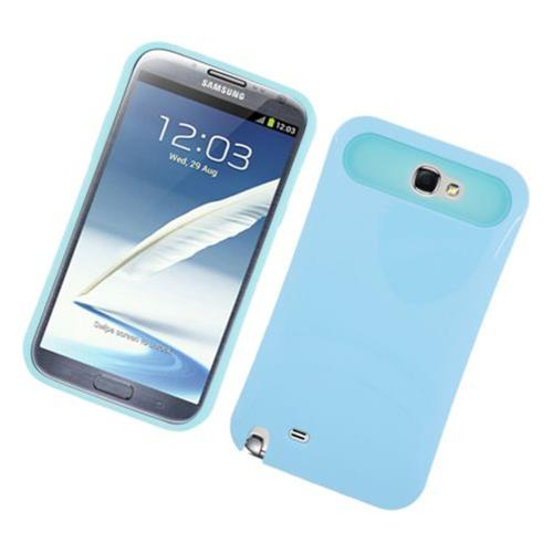 Insten Night Glow Hard Jelly Silicone Cover Case For Samsung Galaxy Note II, Blue