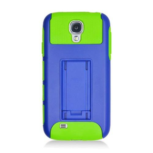 Insten Nest Hard Hybrid TPU Cover Case For Samsung Galaxy S4, Dark Blue/Green