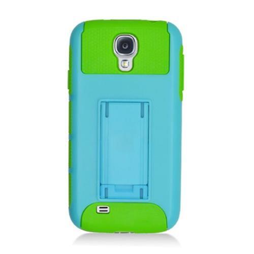 Insten Nest Hard Dual Layer TPU Case For Samsung Galaxy S4, Light Blue/Green