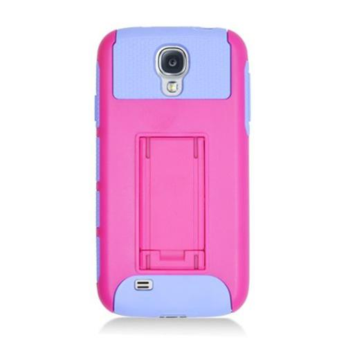 Insten Nest Hard Dual Layer TPU Case For Samsung Galaxy S4, Hot Pink/Purple