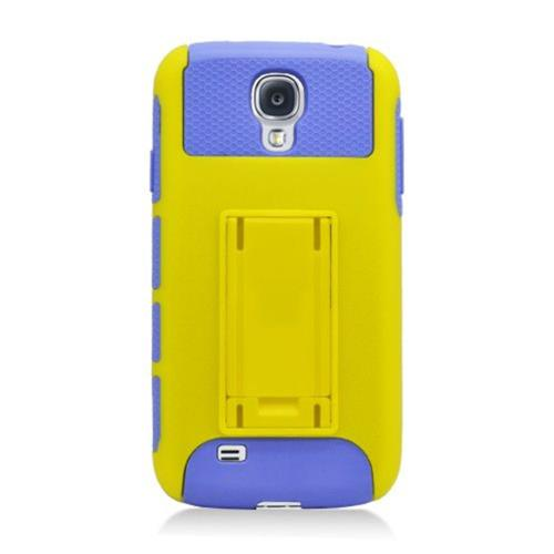 Insten Nest Hard Dual Layer TPU Cover Case For Samsung Galaxy S4, Yellow/Purple