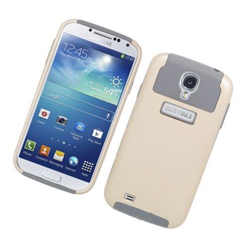 Insten Nest Hard Hybrid TPU Case For Samsung Galaxy S4, Gold/Gray