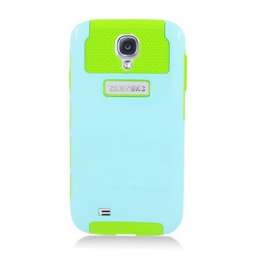 Insten Nest Hard Hybrid TPU Case For Samsung Galaxy S4, Light Blue/Green