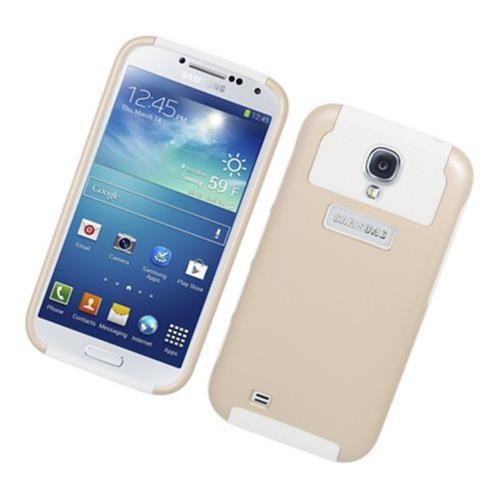 Insten Nest Hard Hybrid TPU Case For Samsung Galaxy S4, Gold/White