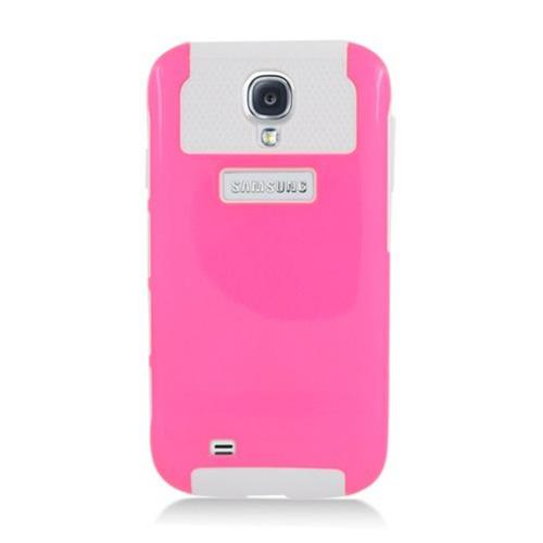 Insten Nest Hard Dual Layer TPU Cover Case For Samsung Galaxy S4, Hot Pink/White