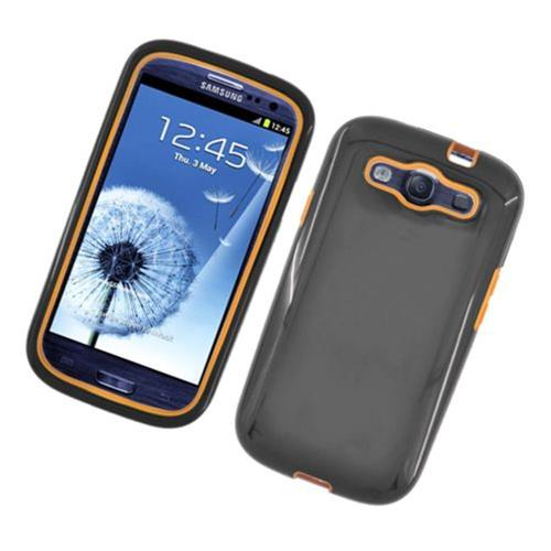 Insten TPU Dual Layer Case For Samsung Galaxy S3, Black/Yellow