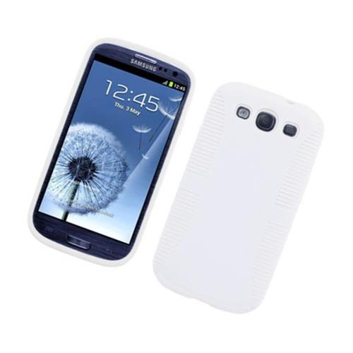 Insten Hard Dual Layer Plastic TPU Cover Case For Samsung Galaxy S3, White